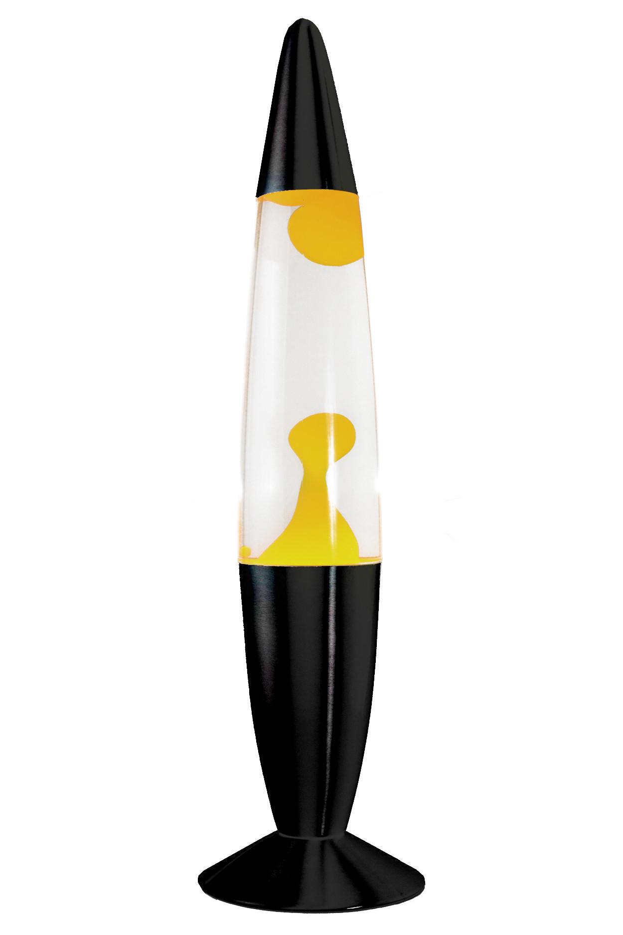 Лава-лампа 48см Жёлтая/Прозрачная (Воск) Black