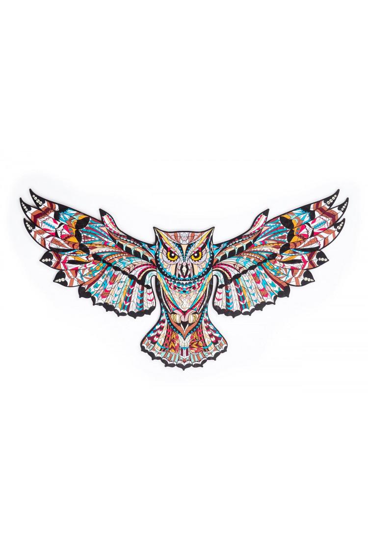 Пазл «Лесная сова» размер S, 127 деталей