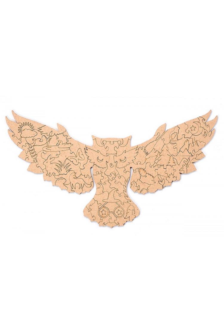 Пленка для крепления на стену пазла  «Лесная сова» S