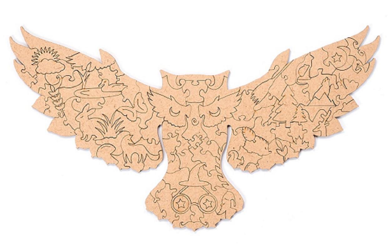Пленка для крепления на стену пазла  «Лесная сова» М