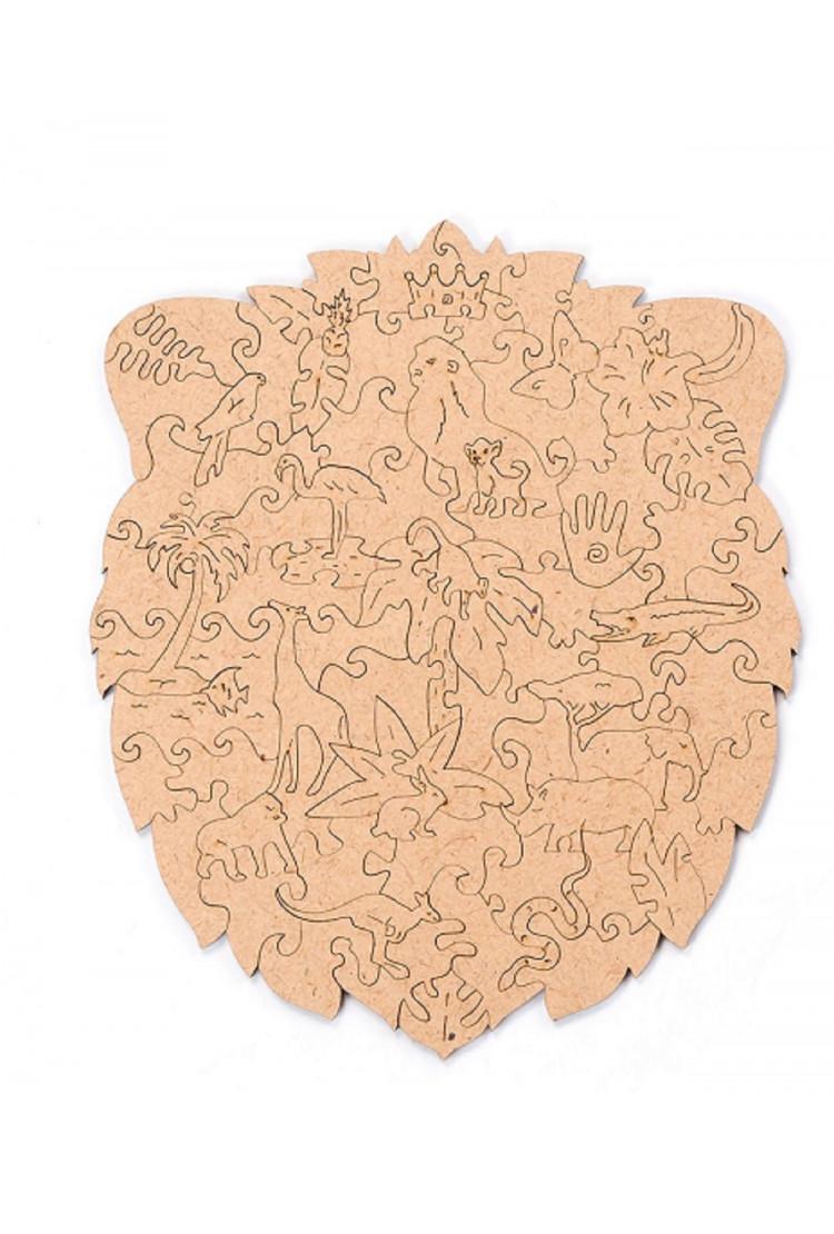 Пленка для крепления на стену пазла  «Король лев» XL