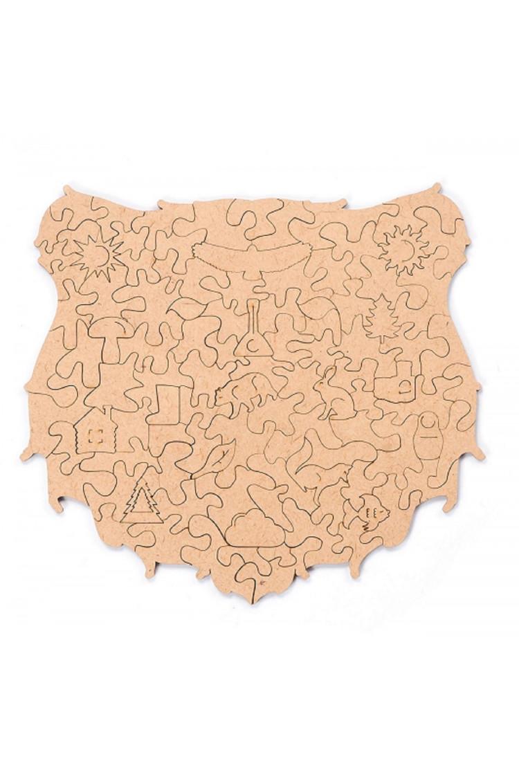 Пленка для крепления на стену пазла  «Сказочный медведь» S