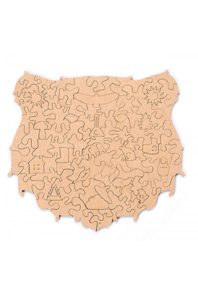 Пленка для крепления на стену пазла  «Сказочный медведь» M