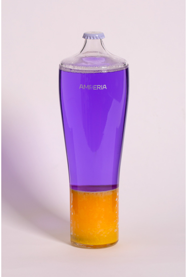 Колба Amperia для лава лампы Alien 42см Оранжевая/Фиолетовая (28*6,5)