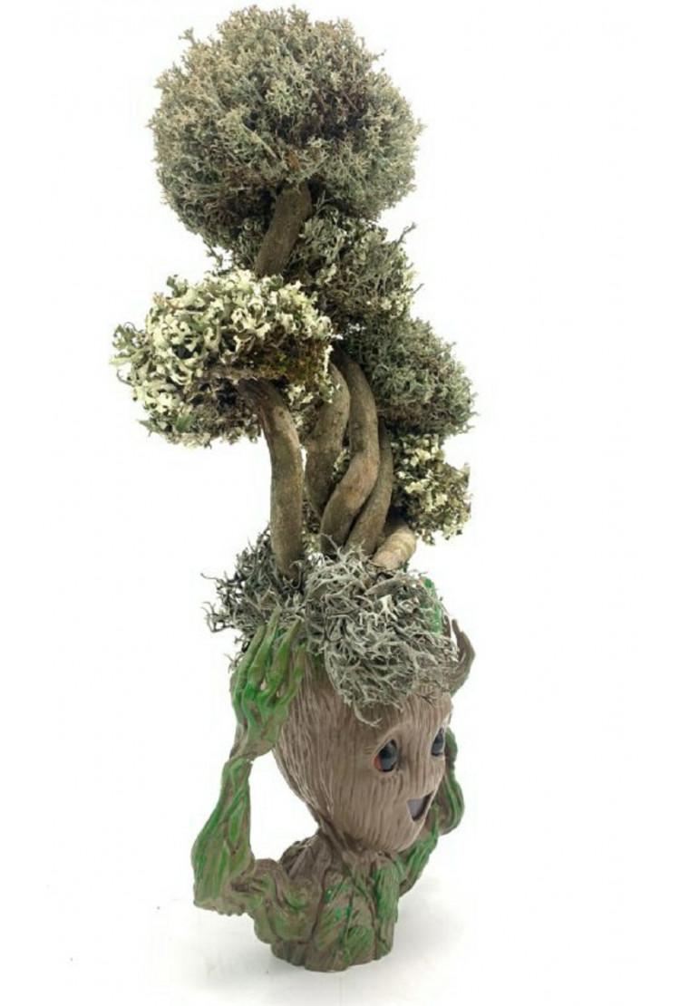 Фантастический Грут с деревом из цетрарии, 37 см