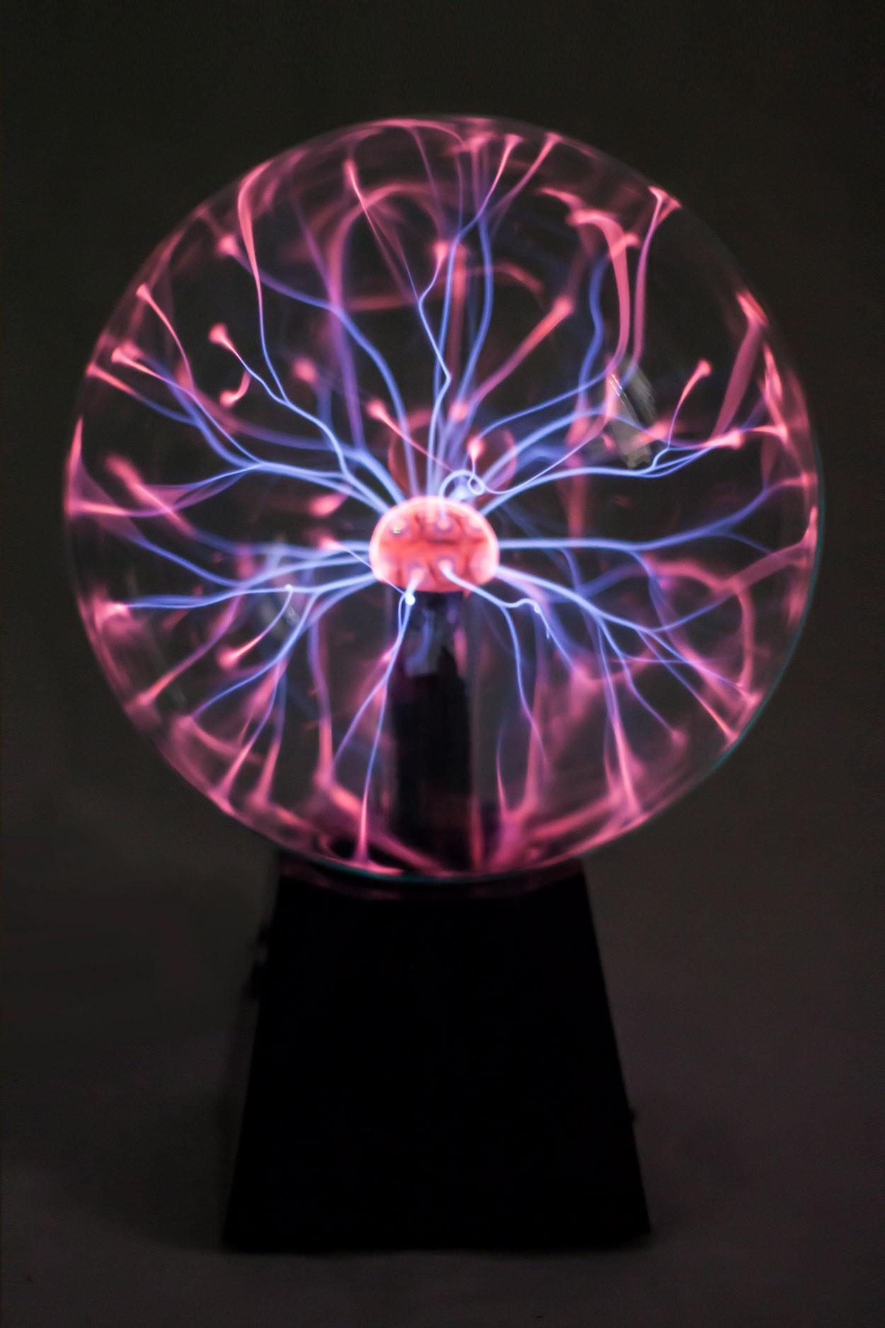 Электрический плазменный шар Тесла Audio (D - 20см)