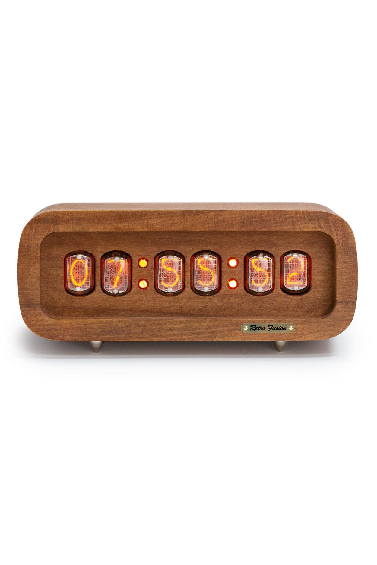 Ламповые ретро часы - деревянные (винтаж)