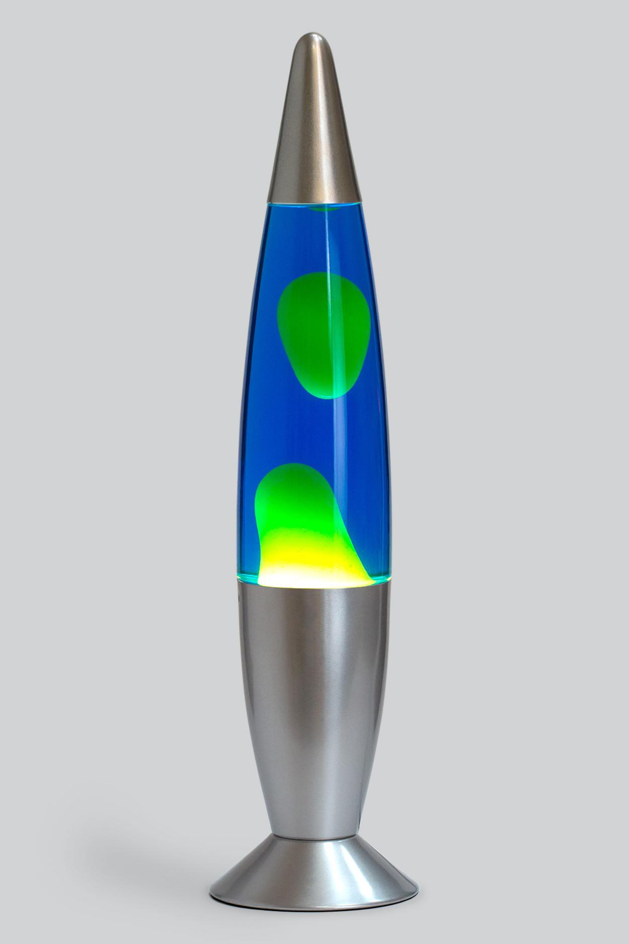 Лава-лампа 48см Желтая/Синяя (Воск)