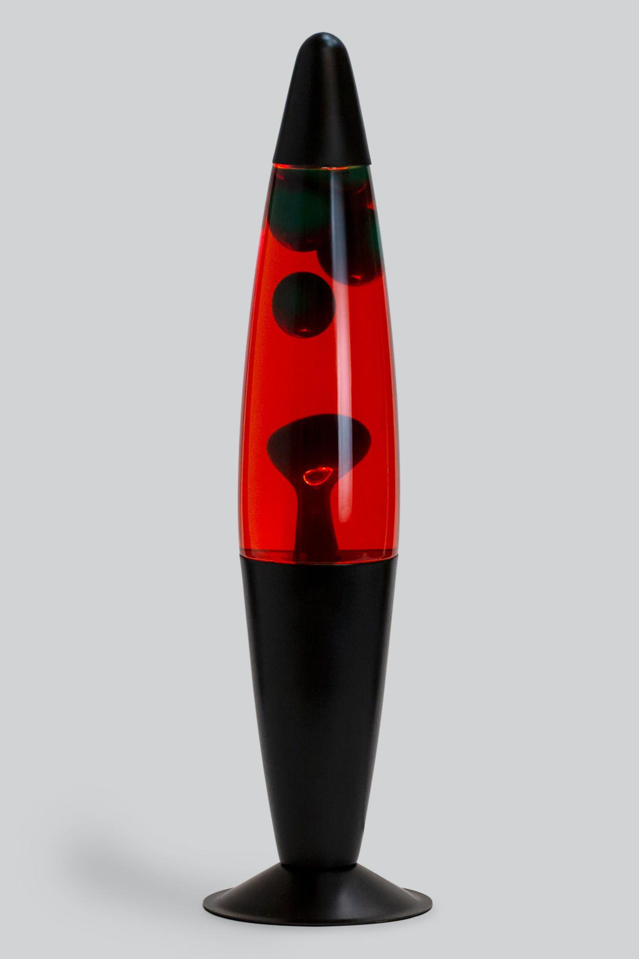 Лава-лампа 41см Зелёная/Красная (Воск) Black