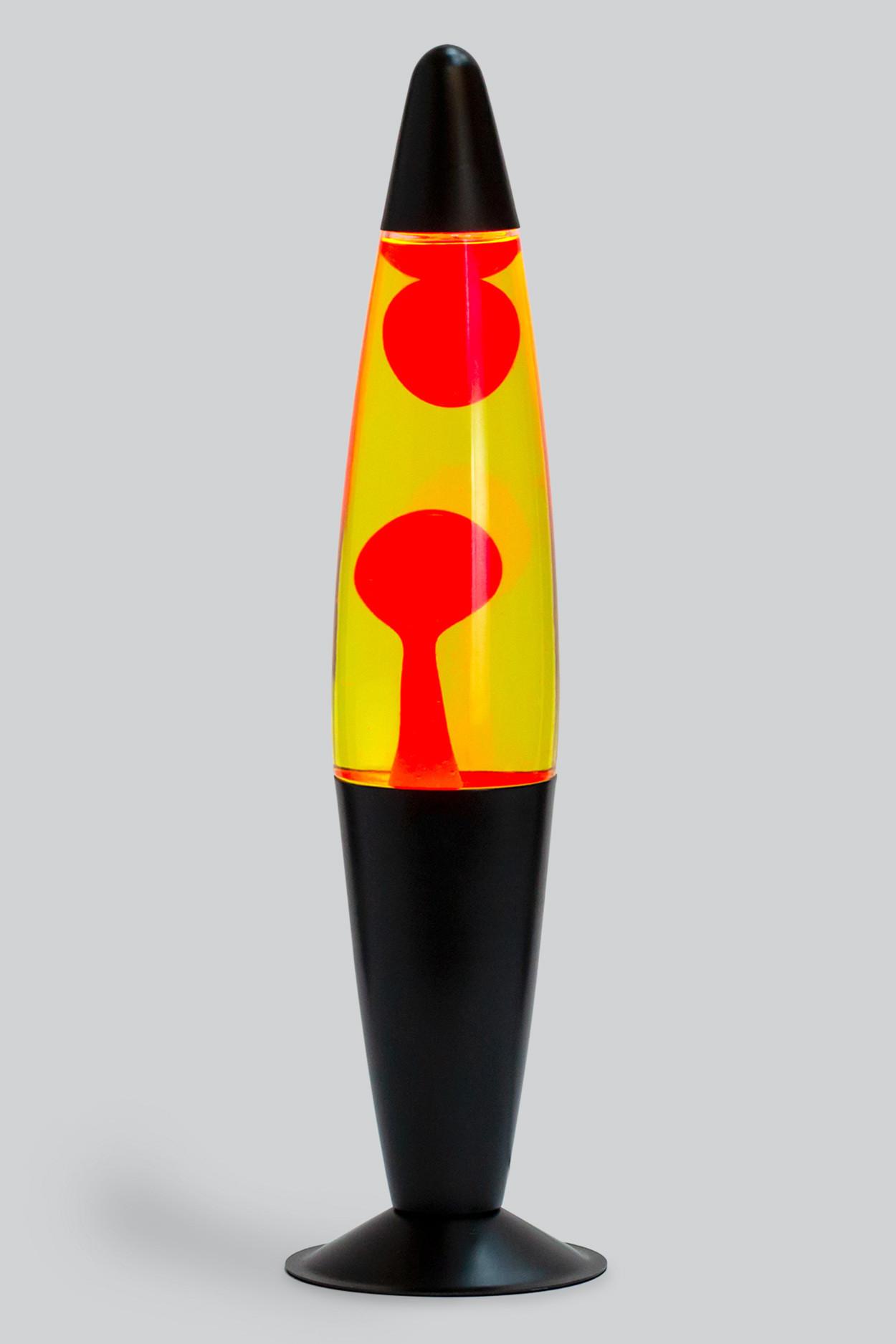 Лава-лампа 41см Красная/Жёлтая (Воск) Black