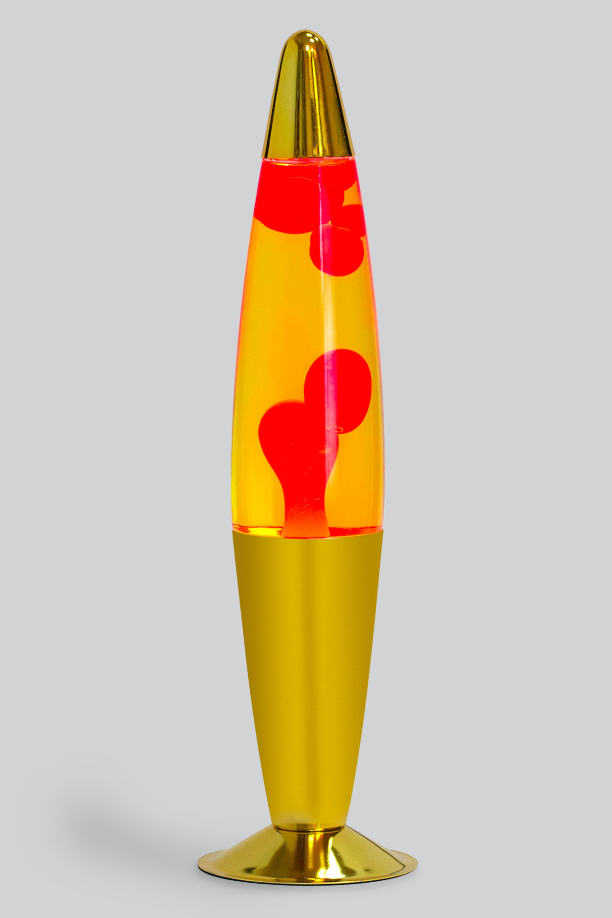 Лава-лампа 41см Красная/Жёлтая (Воск) Хром