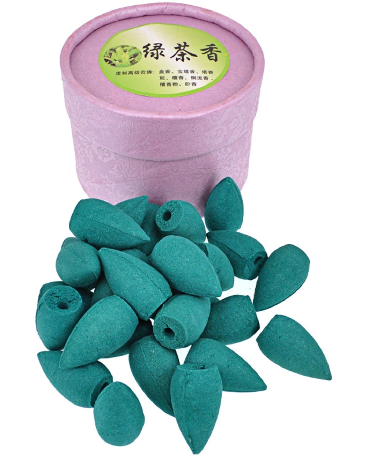 Благовония Пуля BCN001-07 стелющийся дым 25 шт, Зелёный чай