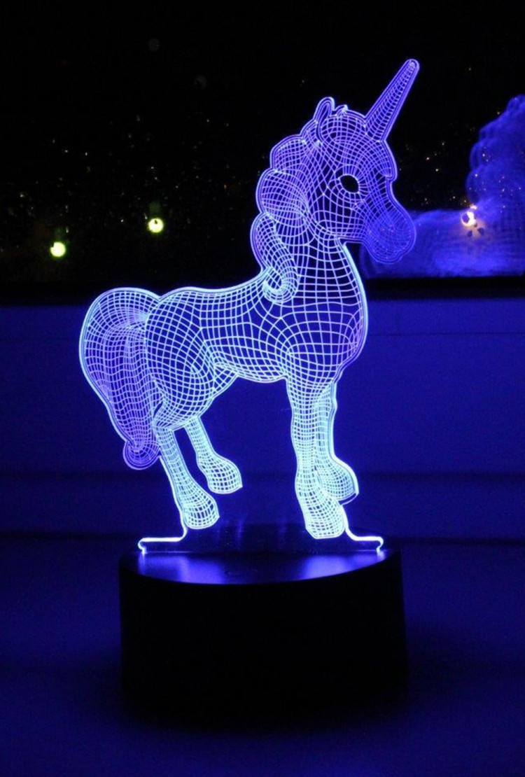 3D ночник Единорог ST 7 цветов