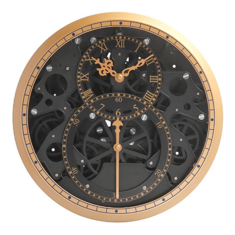 Круглые настенные часы с черным циферблатом (D35 см)