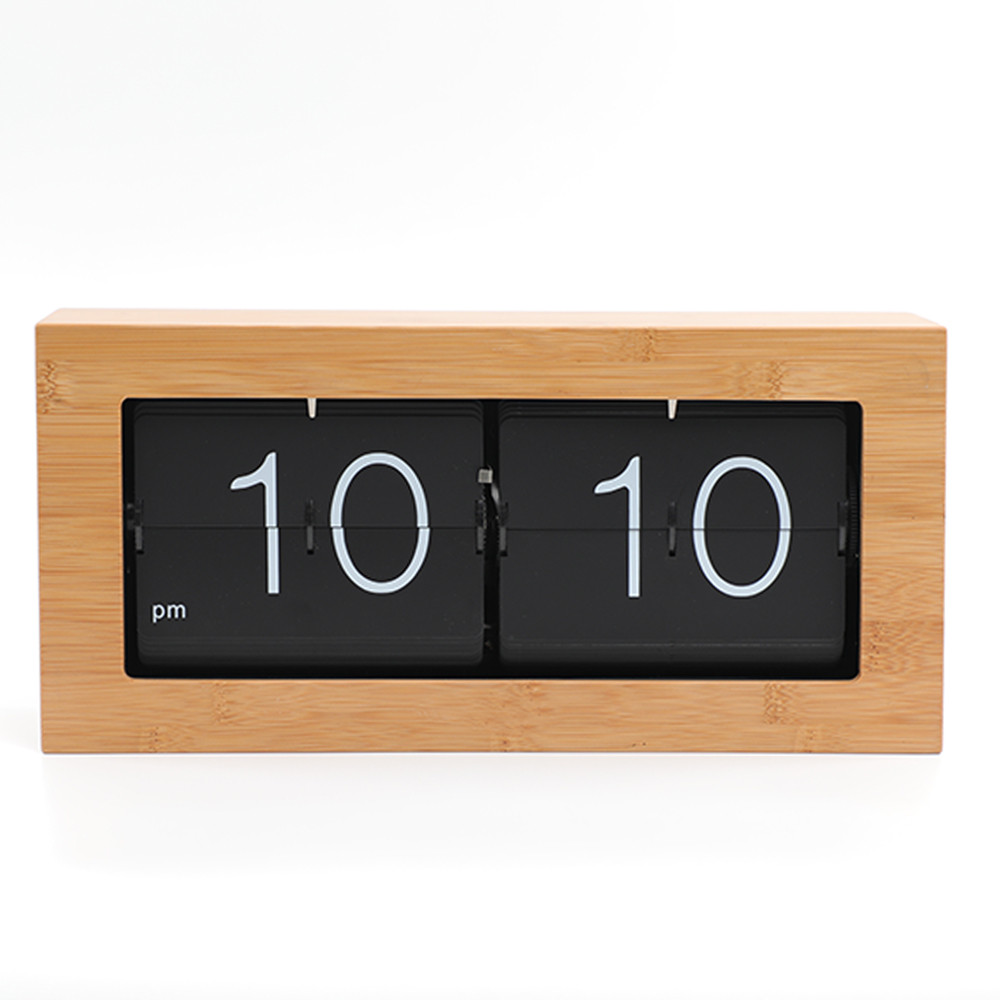 Перекидные часы AIR-FLIP, бамбук (36×9×17 см)