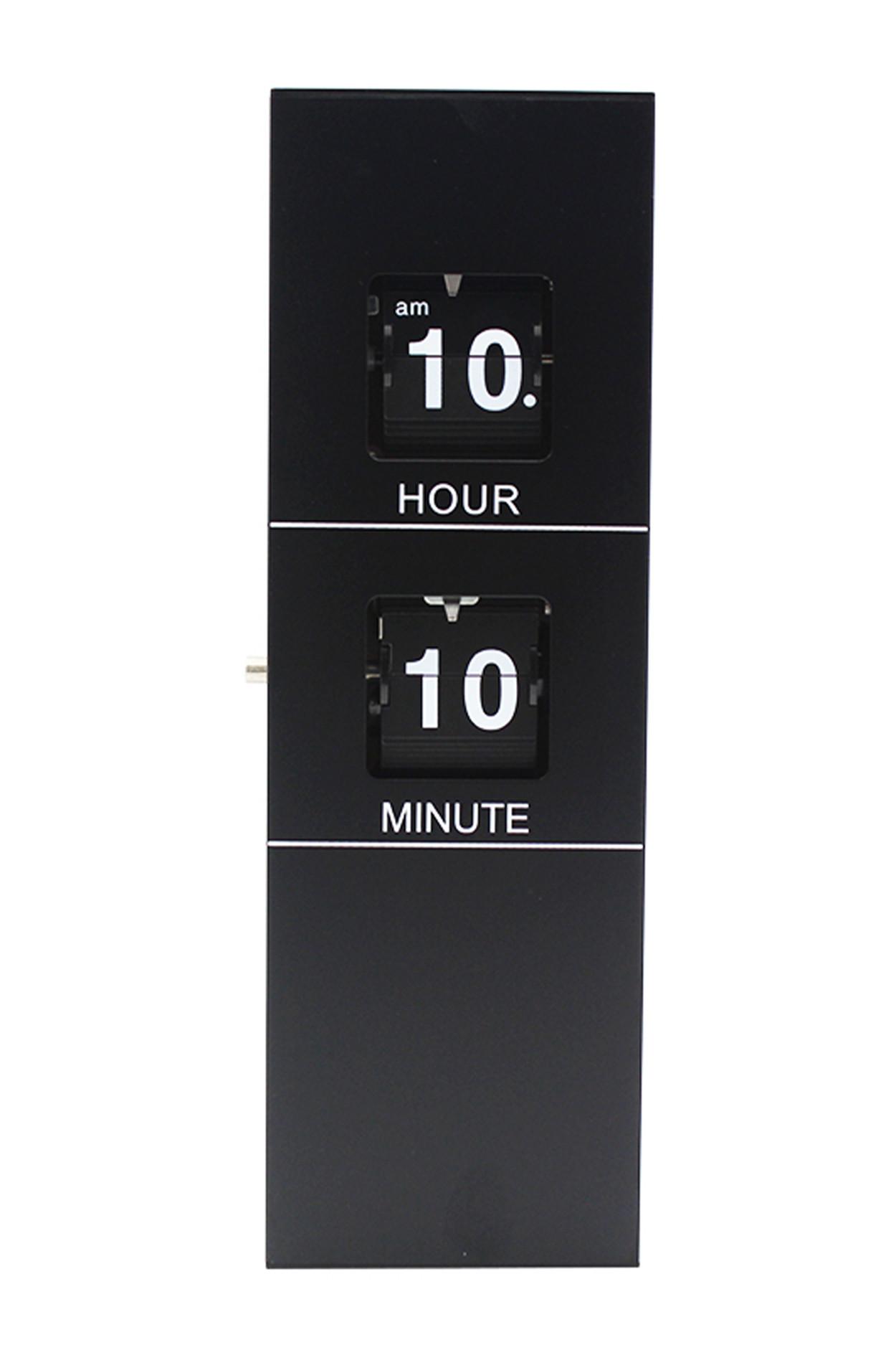 Классические перекидные часы Cuboid Wooden Flip Clock (33×11×7 см)