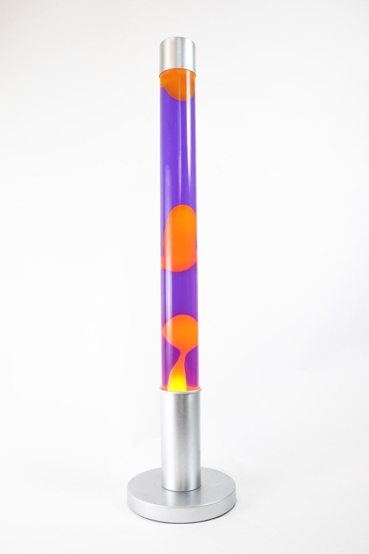 УЦЕНЕННЫЙ ТОВАР! Напольная лава-лампа 75см  Оранжевая/Фиолетовая (Воск)