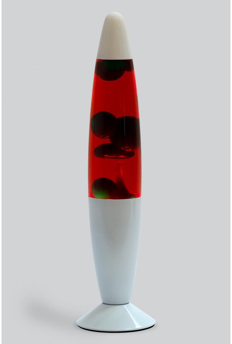 Лава-лампа 35см Зелёная/Красная (White)