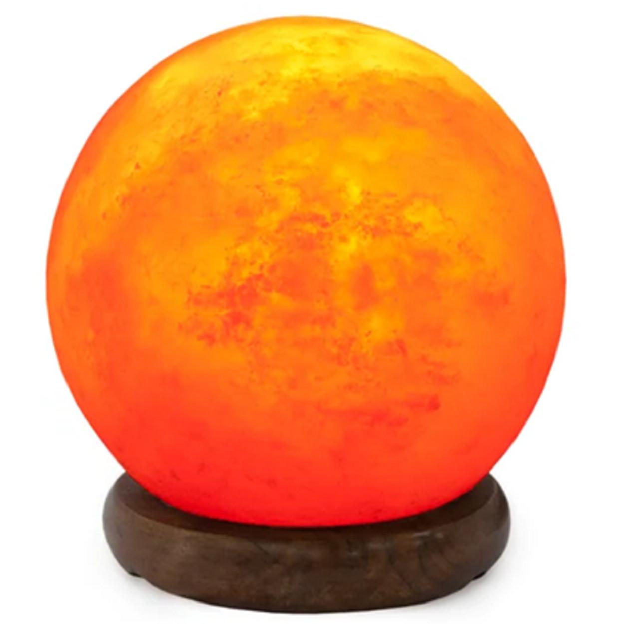 Декоративно-обработанная соляная лампа в комплекте «Сфера» 2-3 кг с диммером