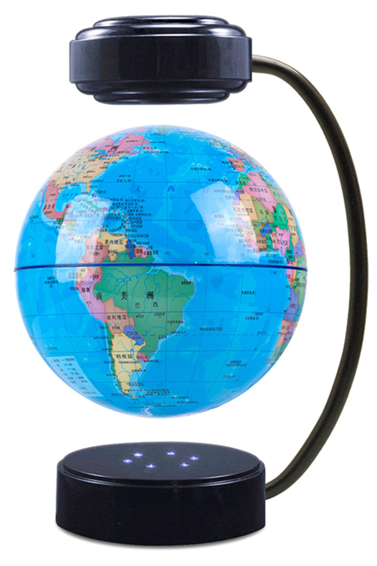 Левитирующий светящийся глобус (D-14 см) политический
