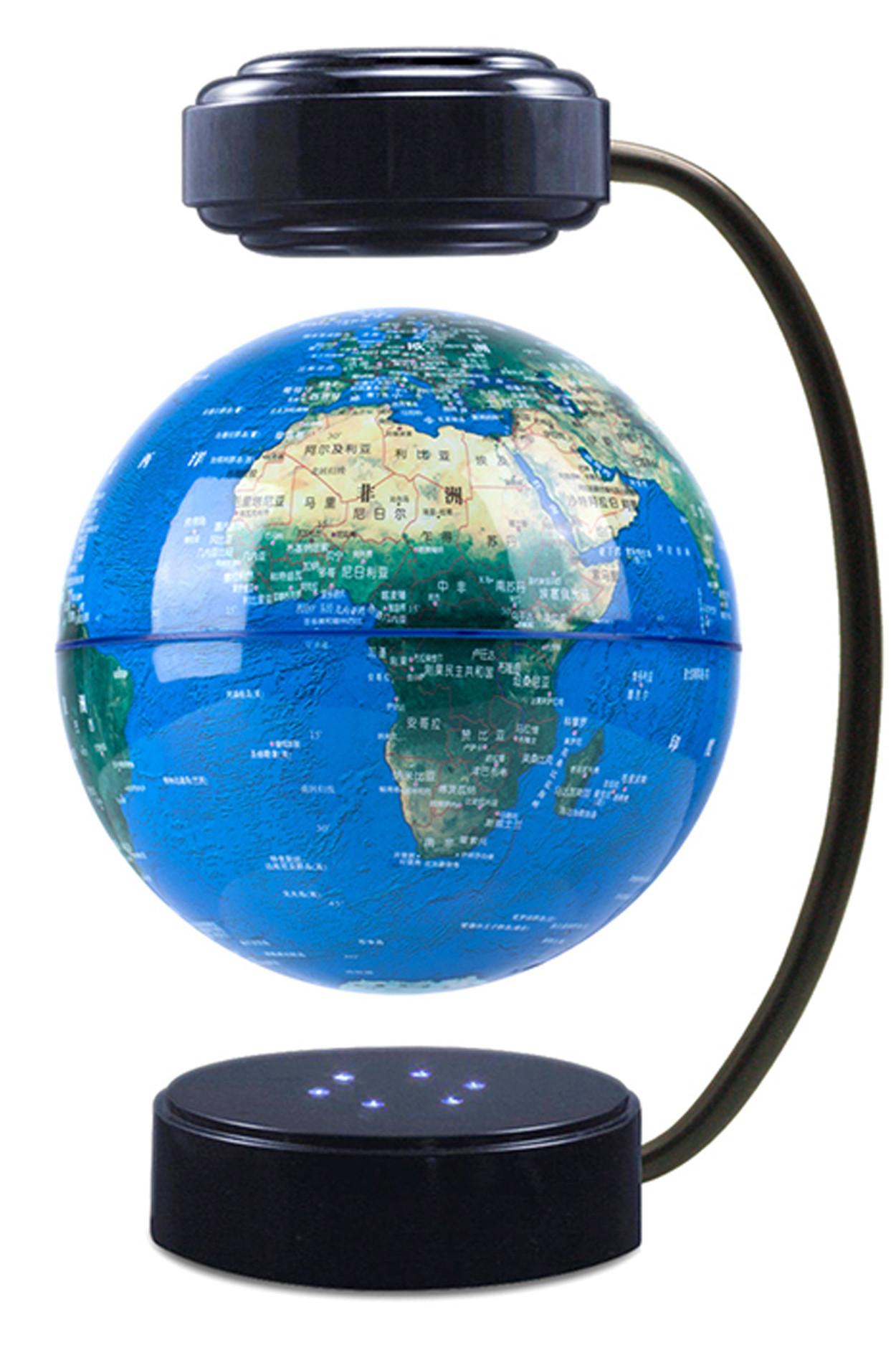 Левитирующий светящийся глобус (D-14 см) физический