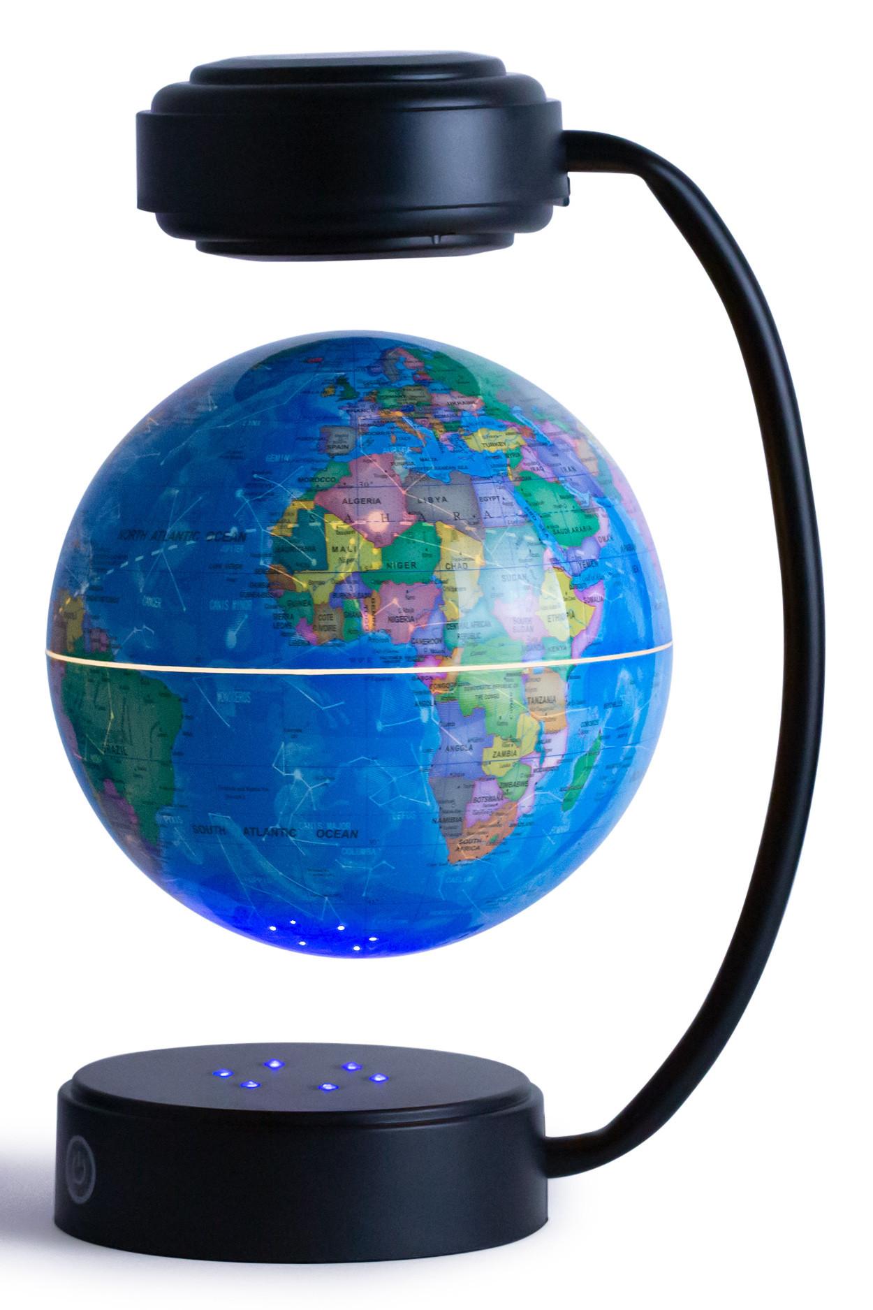 Левитирующий светящийся глобус (D-14 см) политический с созвездиями