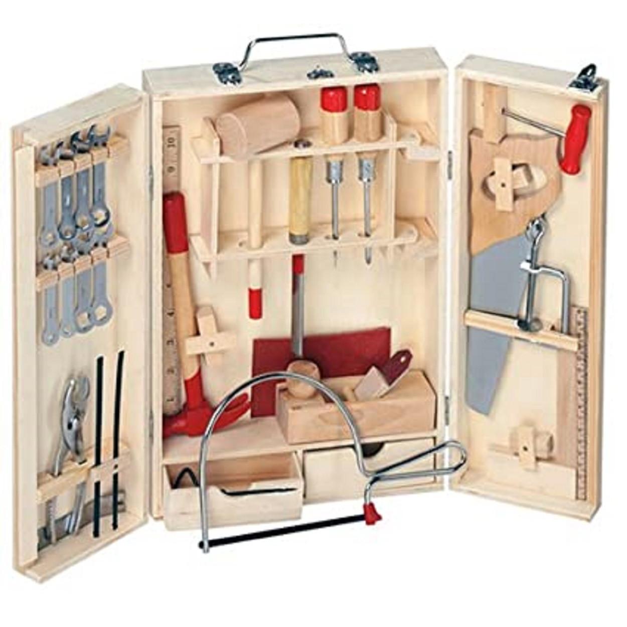 Набор инструментов для работы по дереву для начинающих в деревянном ящике Pebaro (462)