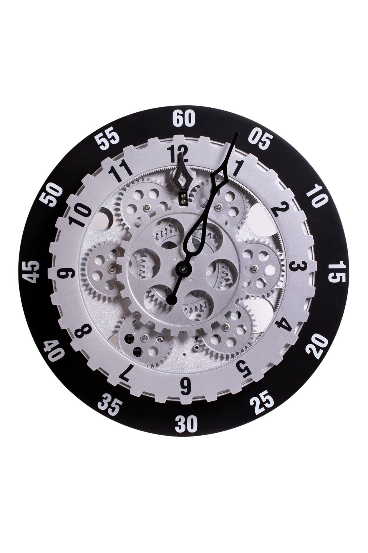 Настенные шестереночные часы с белым циферблатом (D29 см)