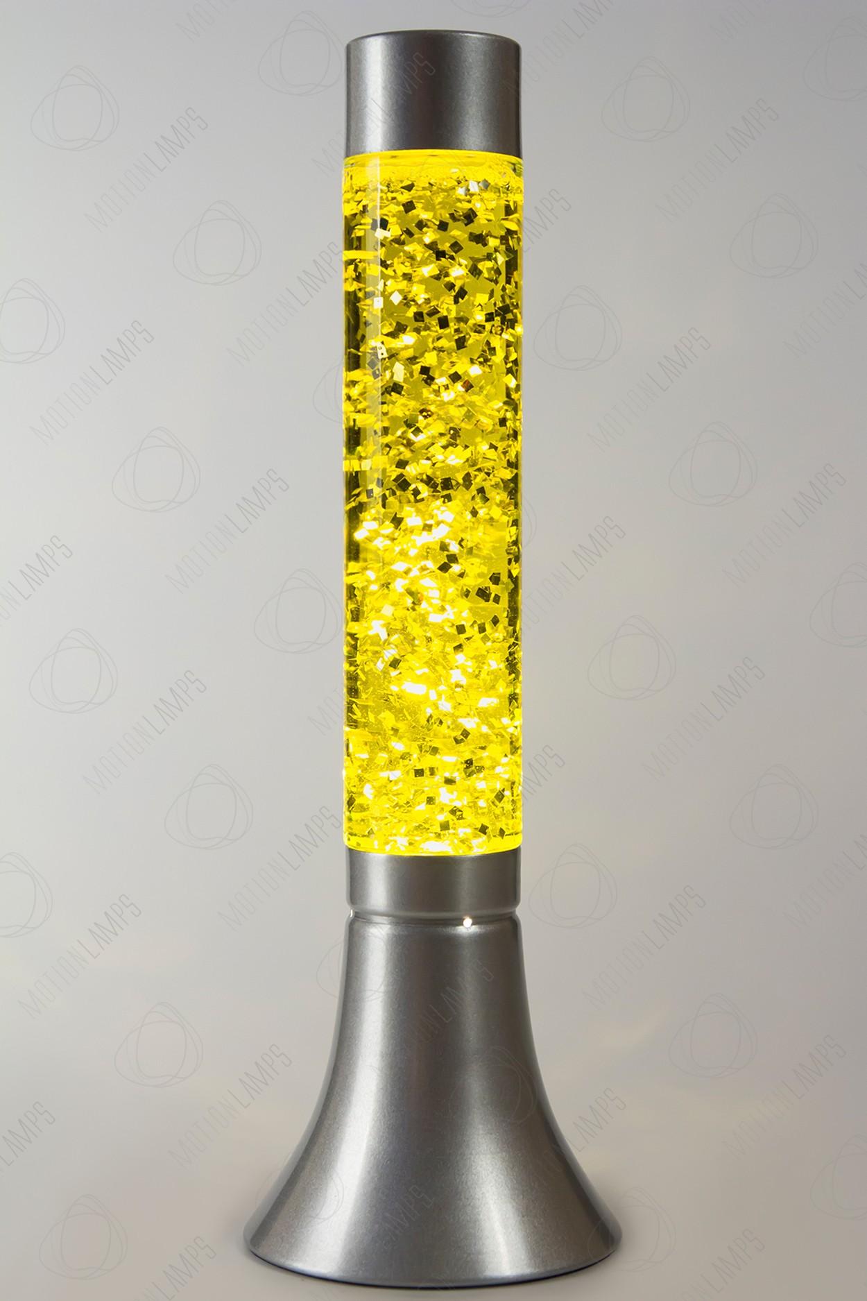Лава-лампа 39см CY Жёлтая/Блёстки (Глиттер)