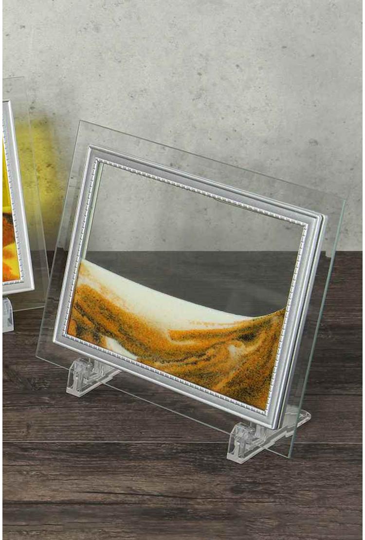 Песочная картина  - Цвет - желтый  - 17*22 см
