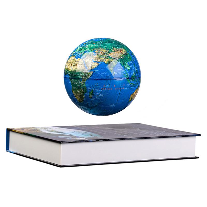 Левитирующий светящиийся глобус на книге Земля (D 8см)
