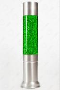 Лава-лампа 43см Зелёная/Блёстки (Глиттер)