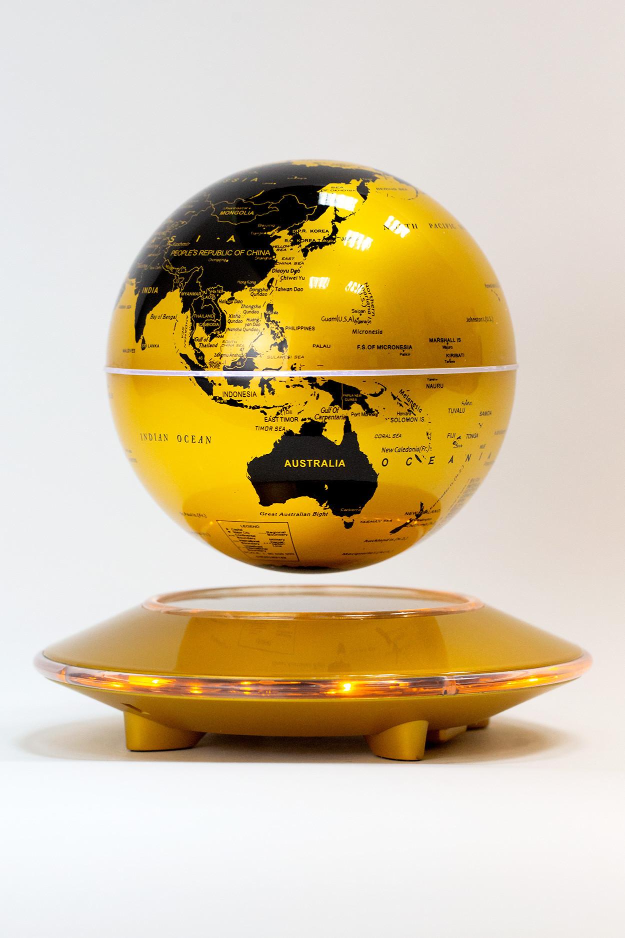 Левитирующий глобус Золотой (D-14см)