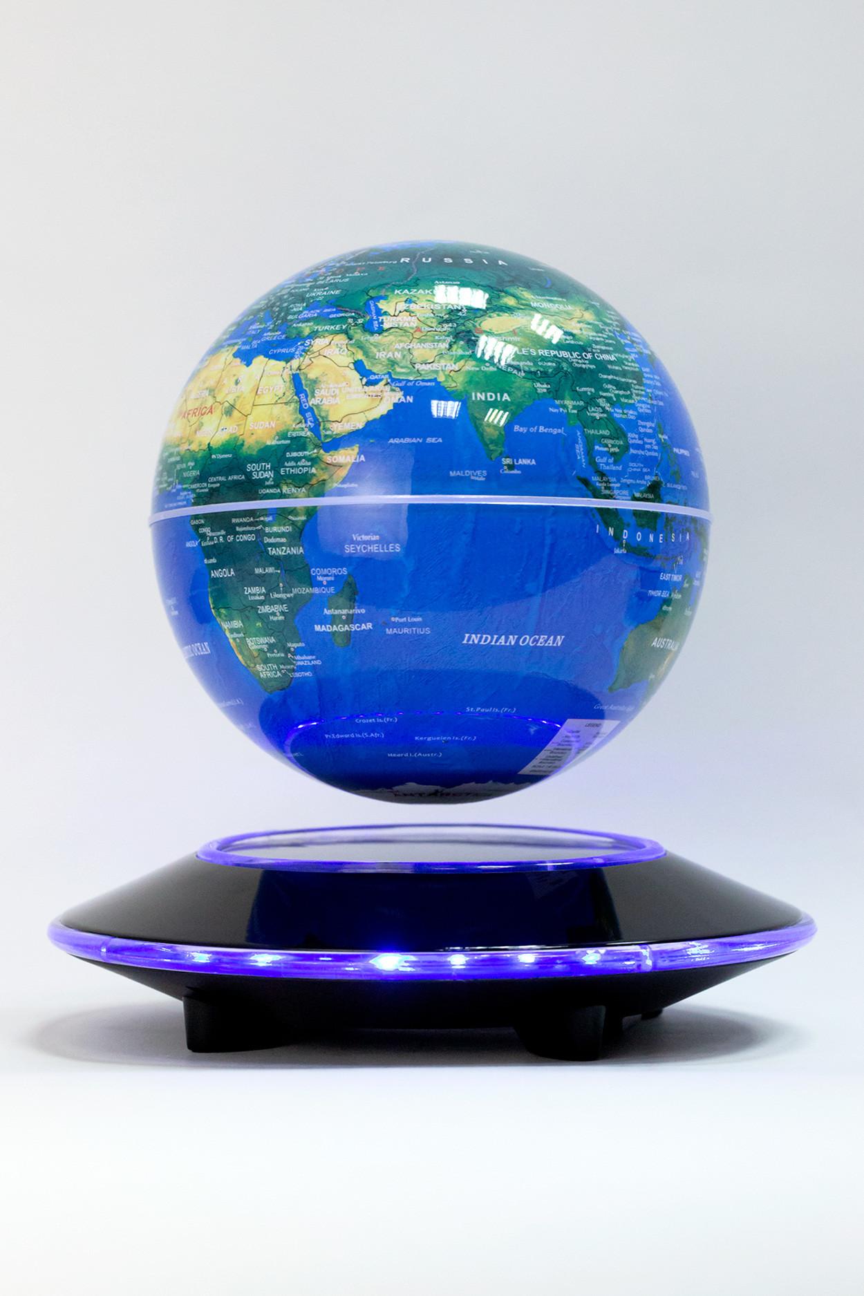 Левитирующий глобус Земля из космоса (D-14см)
