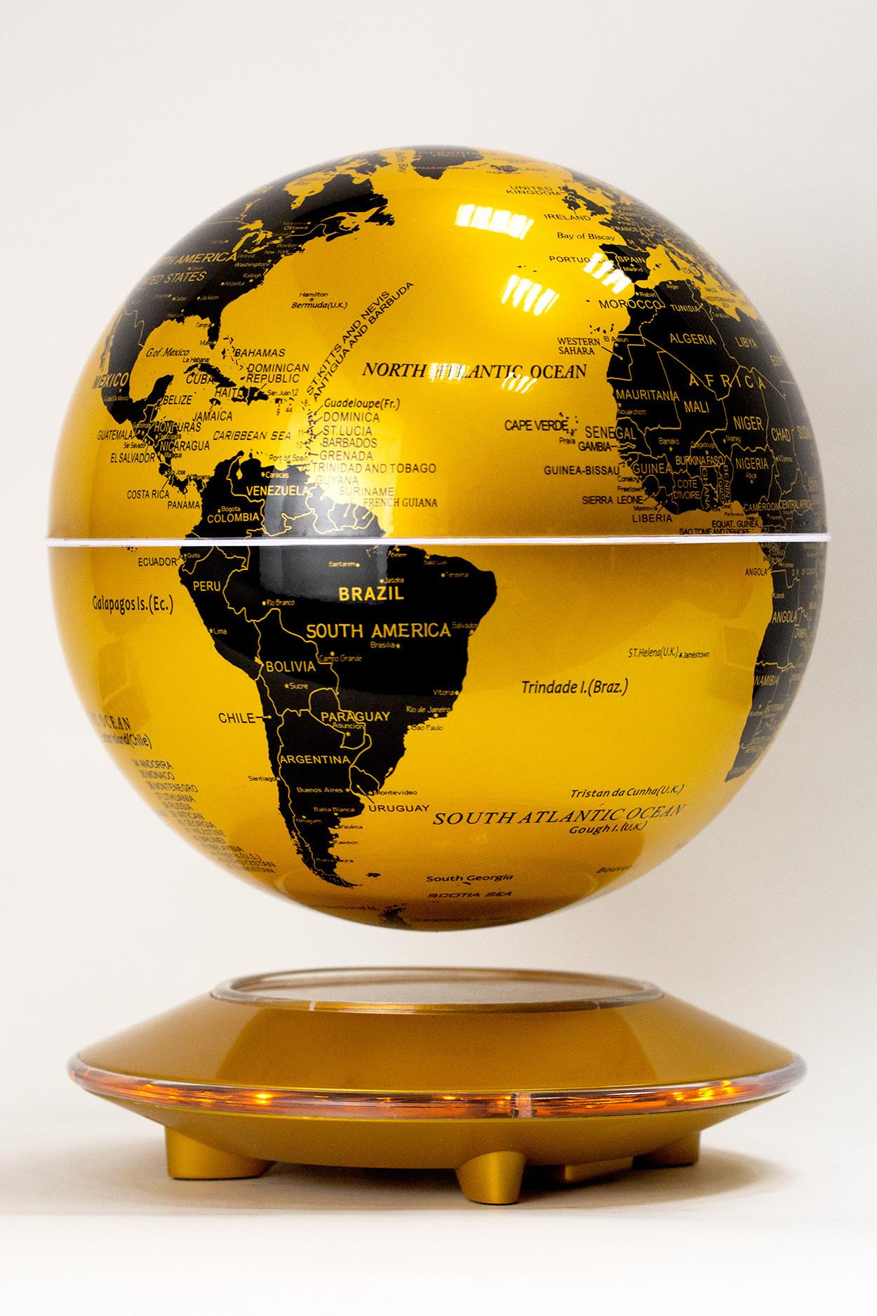 Левитирующий глобус Золотой (D-20см)