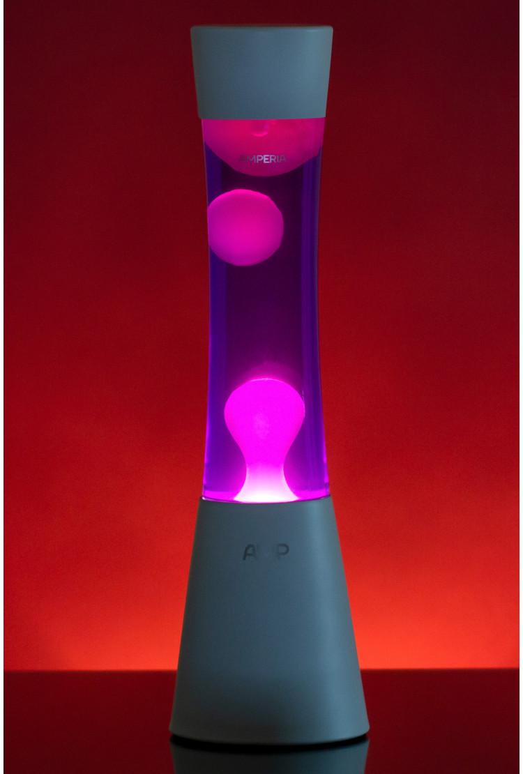 Лава лампа Amperia Grace Белая/Фиолетовая (39 см)
