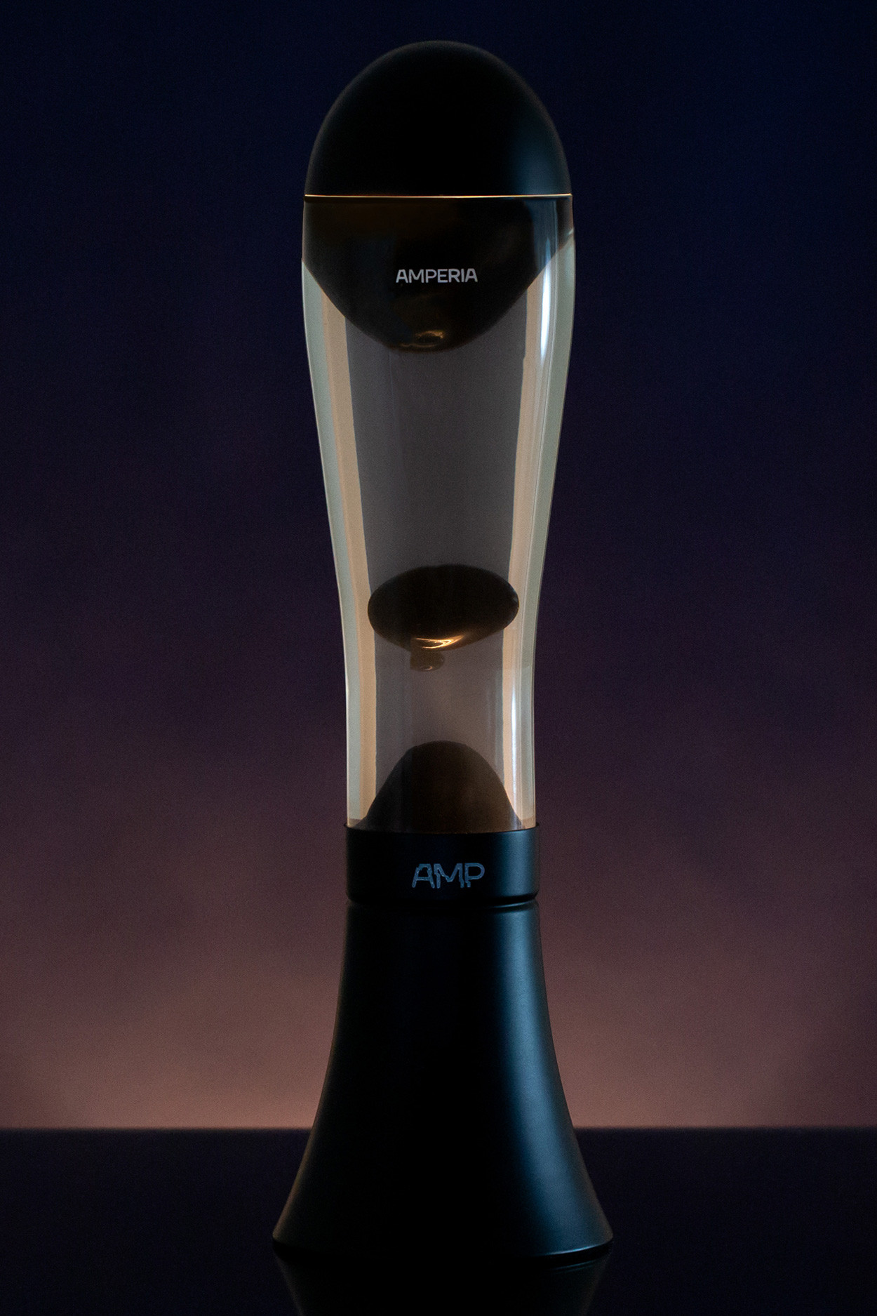 Лава лампа Amperia Alien Черная/Прозрачная (42см)