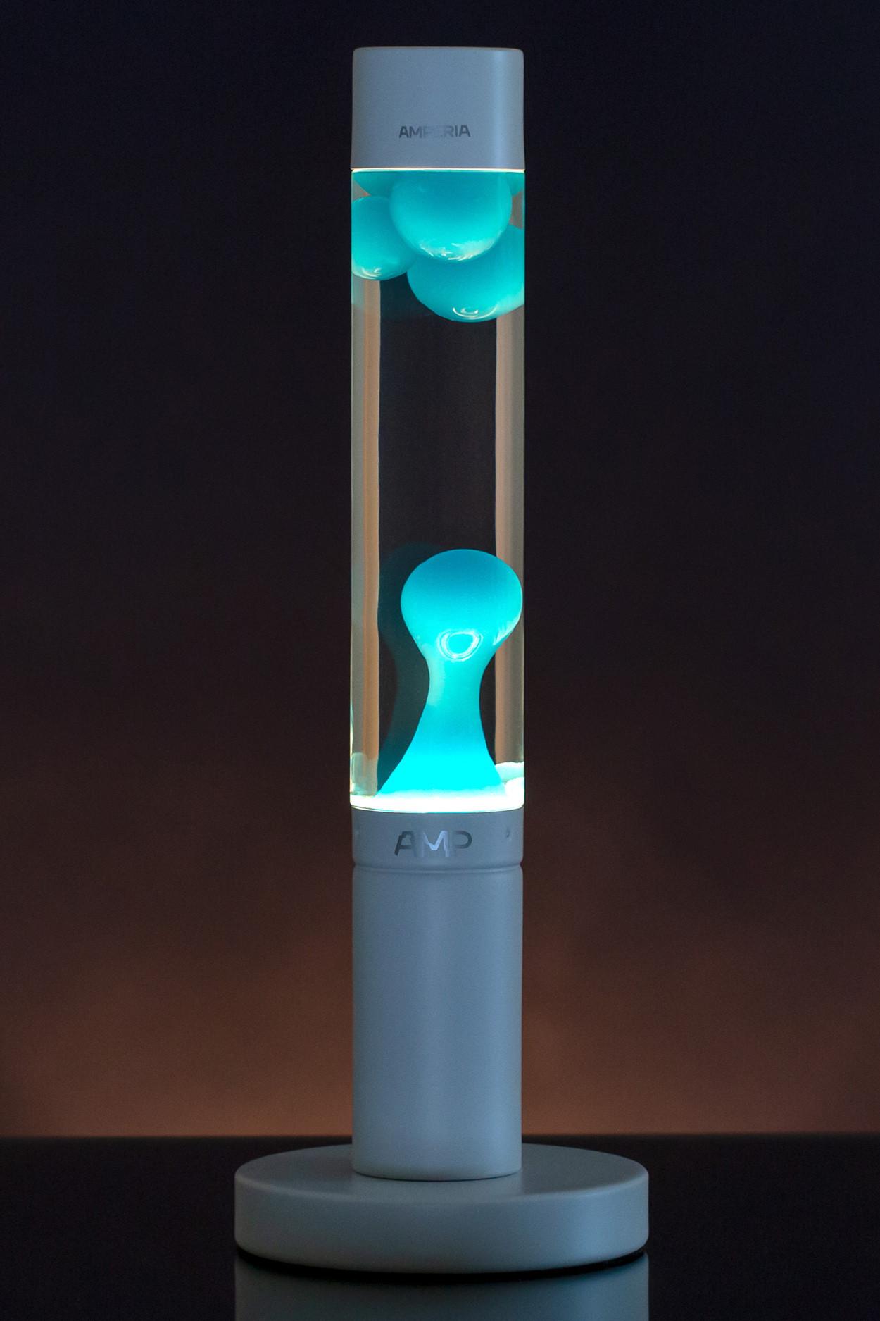 Лава лампа Amperia Slim Бирюзовая/Прозрачная (39 см)
