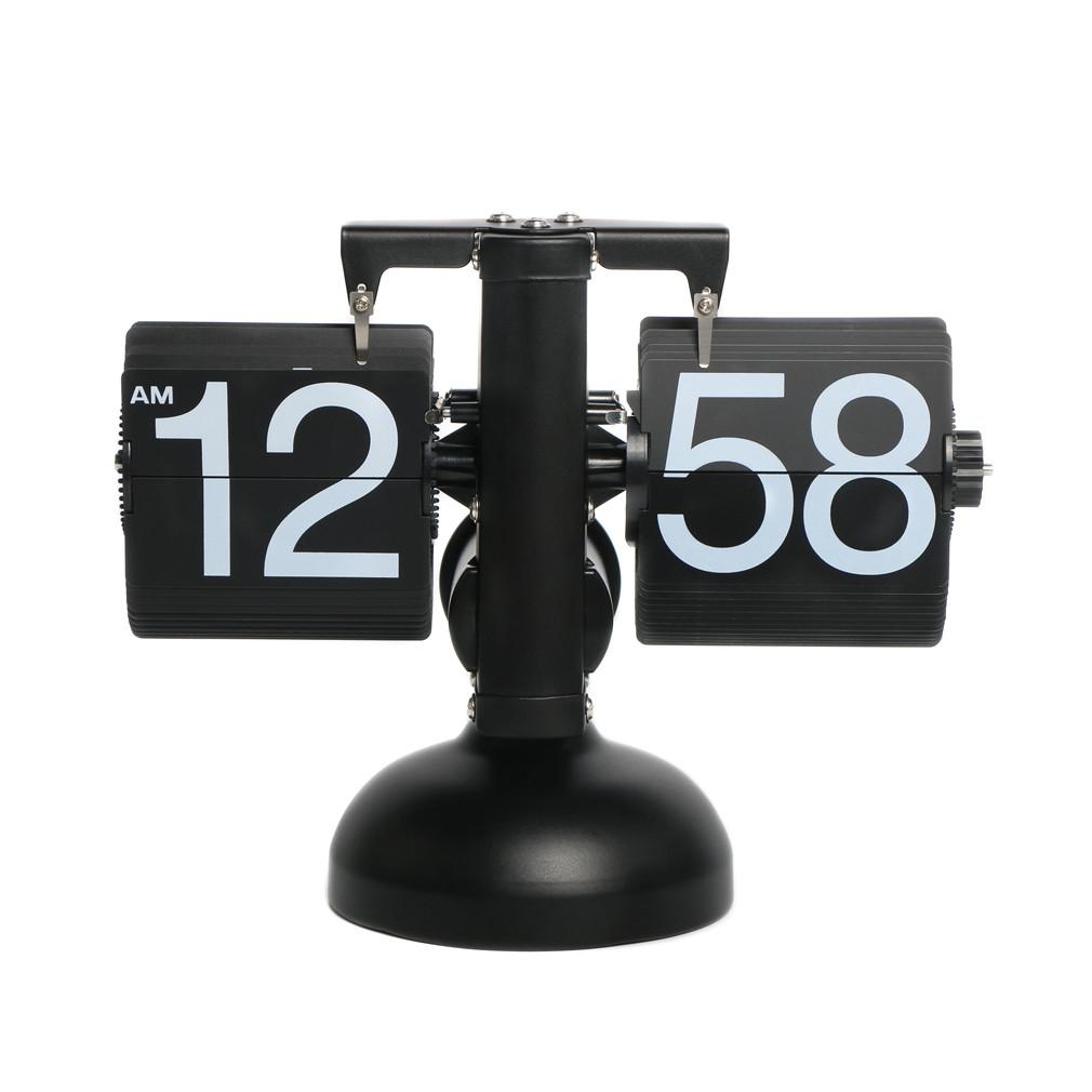 Классические перекидные часы Flip-clock, 16х21х8 см (черные)