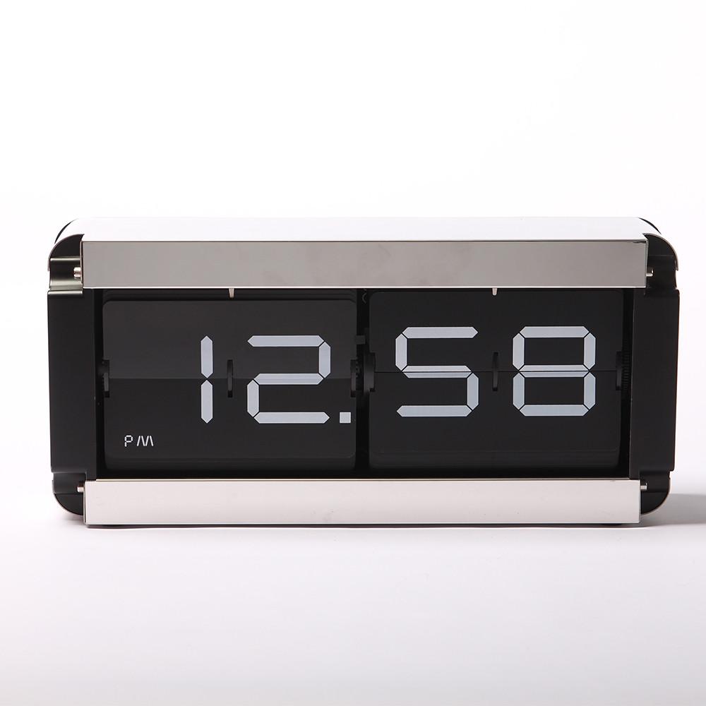 Большие перекидные часы FLIP CLOCK Black, металлические (37×9×17 см)