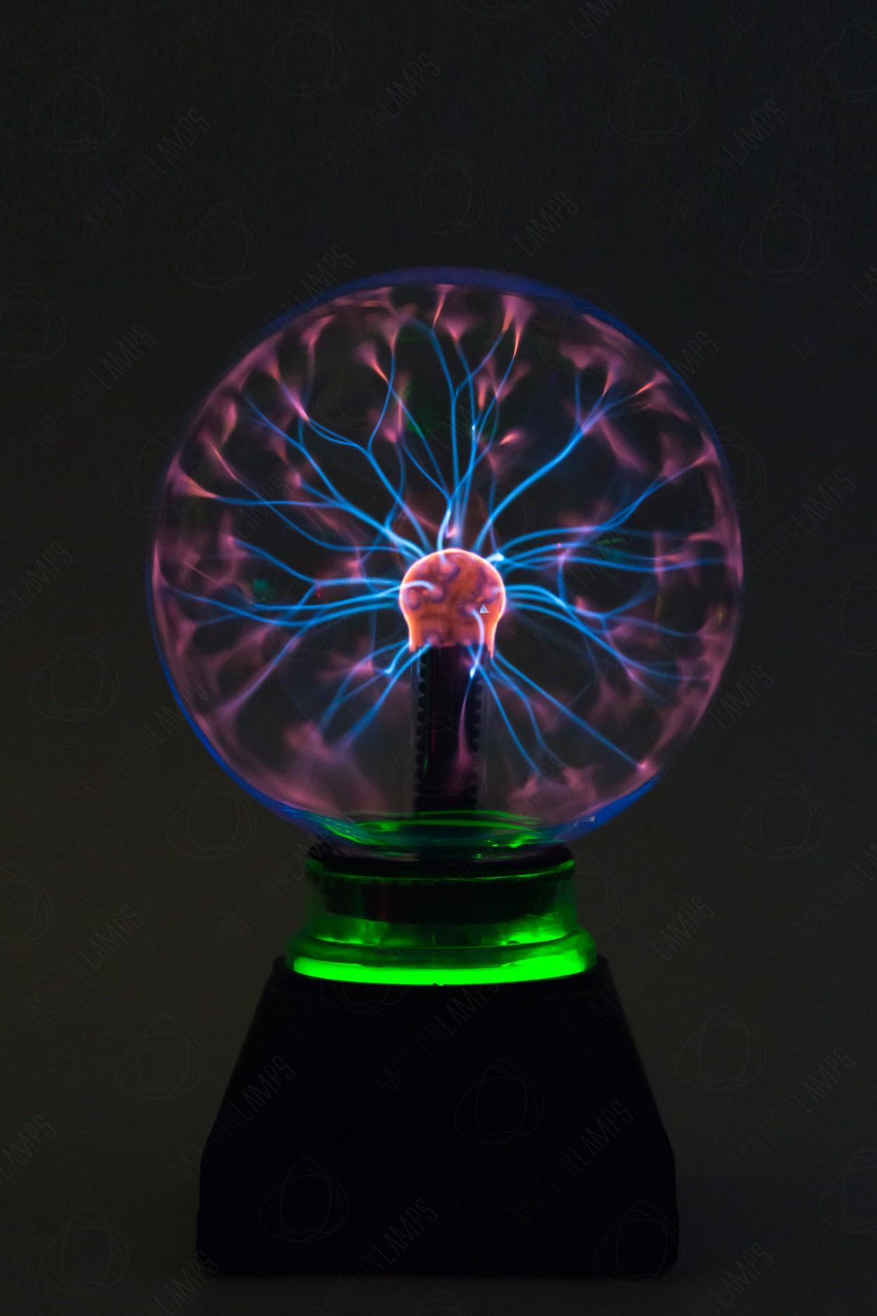 Электрический плазменный шар Тесла (D - 15см) Green