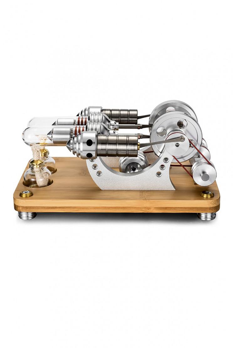 Настольный двигатель Стирлинга Double Bamboo 210х132х100 мм