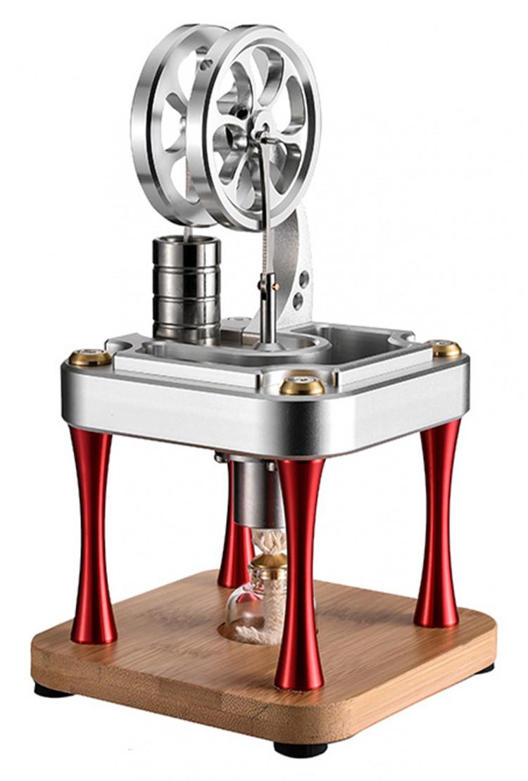 Двигатель Стирлинга вертикальный Chrome (М16-C) 118x118x200 мм