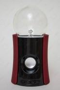 Bluetooth-колонка плазменный шар Тесла красная (D -10см)