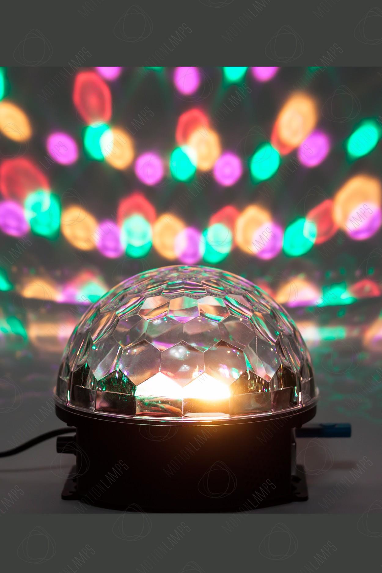 Уцененный товар! Музыкальный диско-шар LED Crystal Magic Ball Light