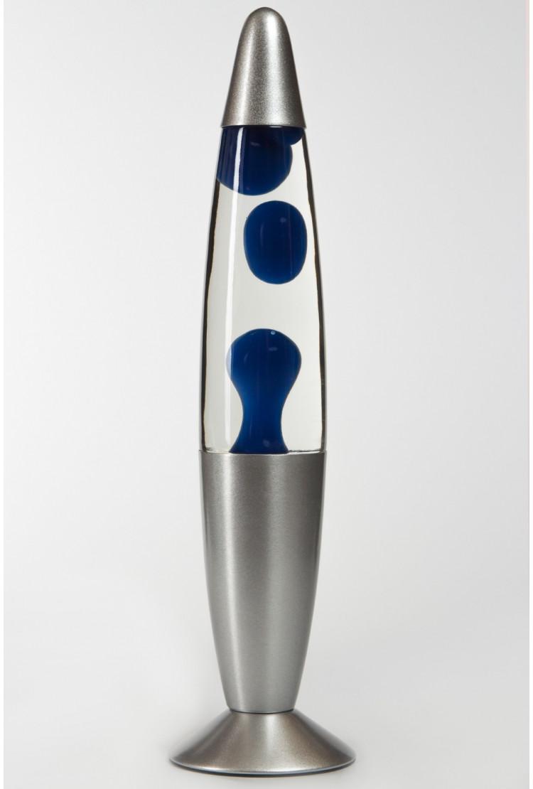Лава-лампа 35см Синяя/Прозрачная (Воск)