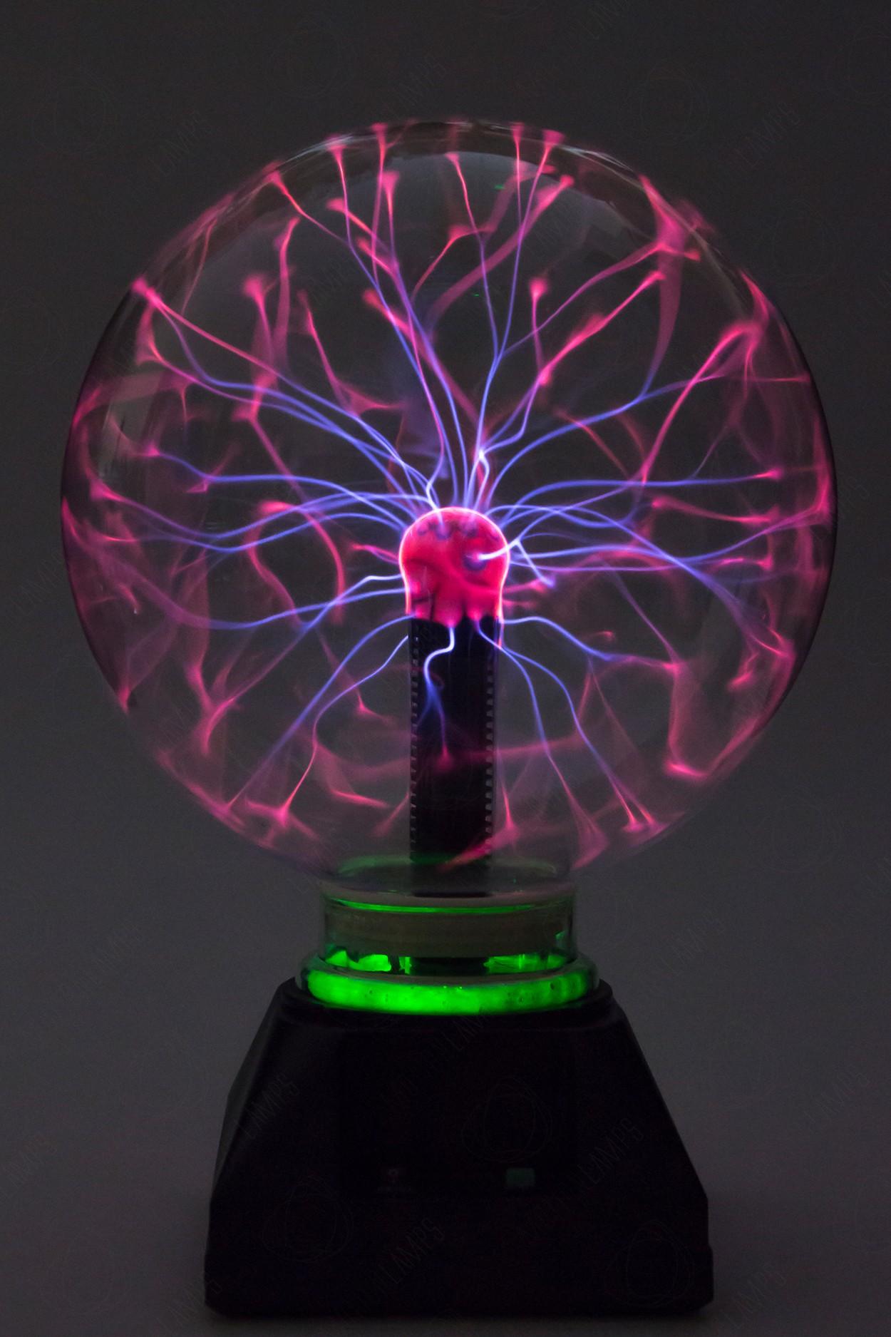 Электрический плазменный шар Тесла (D - 20см) Green