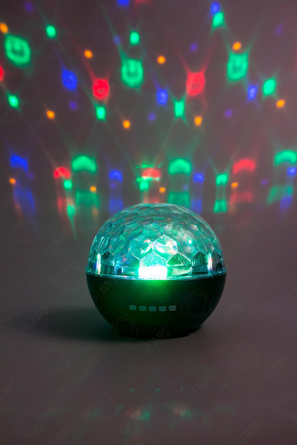 Диско-шар LED Crystal Magic Ball Light на аккумуляторе