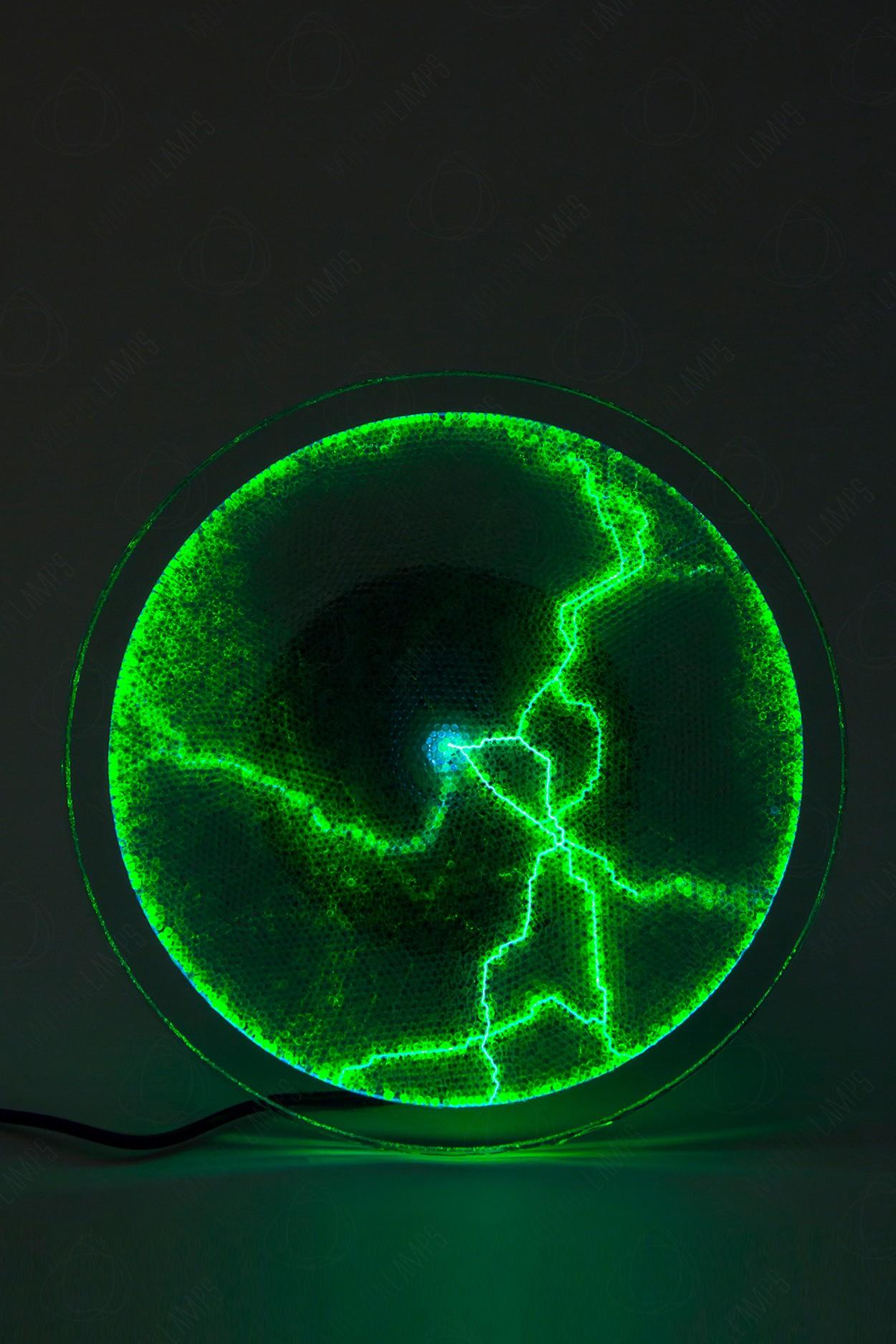 Электрический плазменный диск Тесла Зелёный D - 20см