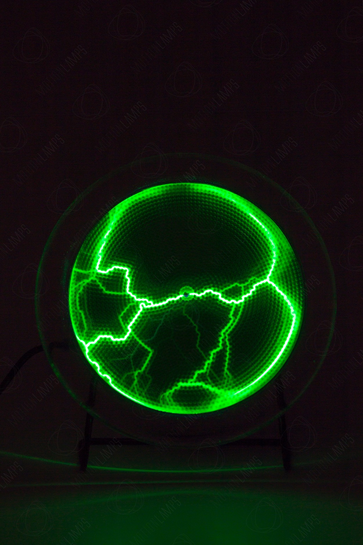 Электрический плазменный диск Тесла Зелёный D - 15см